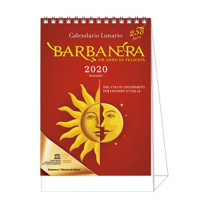Calendario con anelli Barbanera 2020